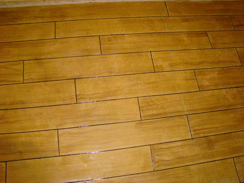 Image of Hardwood Floor pattern cut into concrete