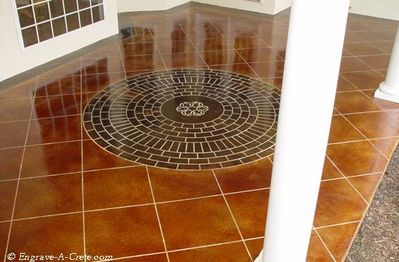Image of tile and circle brick pattern